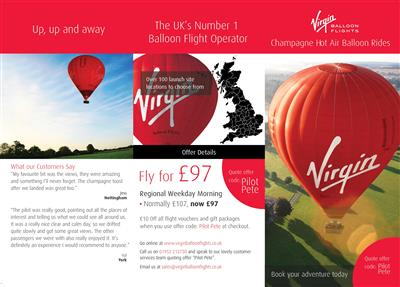 <h1>Take off from Cosgrove Park this summer with a Virgin Balloon Flight</h1>